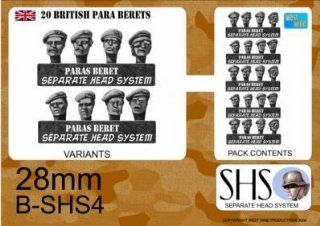Separate Head System (WWII Miniatures 28mm): British Paras in Berets: Toys & Games