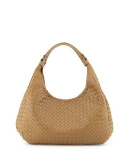 Intrecciato Medium Hobo Bag, Sand   Bottega Veneta