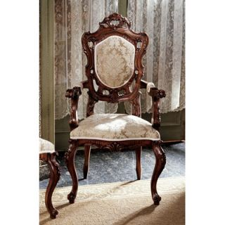 Design Toscano Toulon French Rococo Fabric Arm Chair AF1560