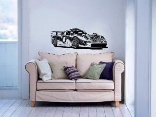 Super Sport Car Auto Porsche 911 Garage Wall Vinyl Decal Art Design Murals Modern Interior Decor Sticker Removable Room Window (SV3348)   Supervinyldecal