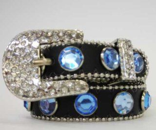 "Western Rhinestone Dog Collar Black/Blue 21""  Pet Collars"