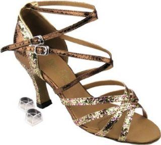 "Very Fine Salsa Ballroom Tango Latin Dance Shoes 5008M Bundle with Dance Shoe Heel Protectors 2.5"" Heel Shoes"