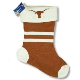 TEXAS LONGHORNS OFFICIAL LOGO KNIT CHRISTMAS STOCKING  Sports Related Collectibles  Sports & Outdoors