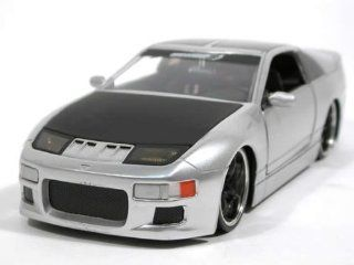 1990 Nissan 300ZX diecast model car 1:24 scale die cast by Jada Toys Option D   White 90619: Toys & Games