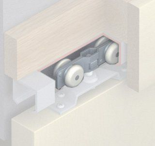 Hafele 940.84.013 Alu 80 Double Roller Running Gear for Top Hung 176 Lb. Wood Sliding Doors, N/A   Tools Products