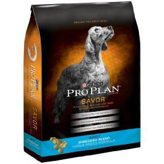 Purina Pro Plan Dry Adult Dog Food, Shredded Blend Large Breed Formula, 34 Pound Bag : Dry Pet Food : Pet Supplies