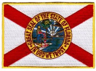 Florida State Flag Embroidered Patch Iron On FL Emblem Clothing