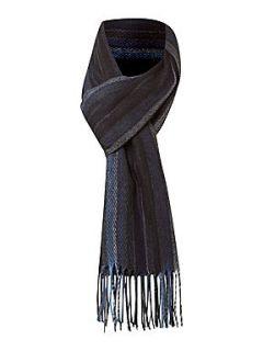 Linea Soft touch multi stripe scarf Blue