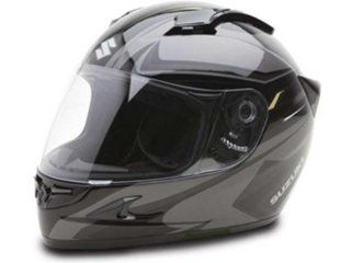 Suzuki Custom Graphic Helmets: Suzuki   Black / Grey   Large 990A0 20101 05L: Automotive