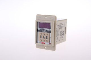 1 set ASY 3D DC 12V Power ON Delay Timer Time Relay 1 999s with PF083A Base Socket   Electrical Timers