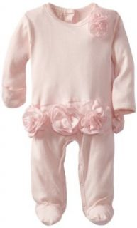 Biscotti Baby Girls Newborn Couture Cutie Long Sleeve Footie, Pink, New Born Clothing