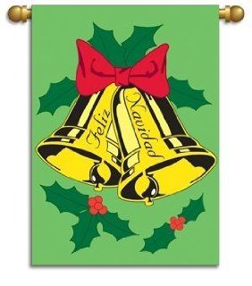 "Garden Size Flag, 13""x18"", Feliz Navidad : Outdoor Decorative Flags : Patio, Lawn & Garden"