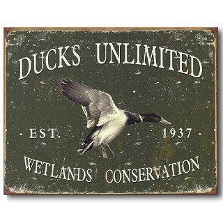 Ducks Unlimited Wetlands Conservation Tin Sign   Prints