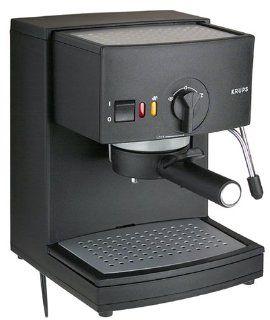 Factory Reconditioned Krups R984 43 Espresso Novo 2000 Plus Pump Espresso Machine, Black Kitchen & Dining
