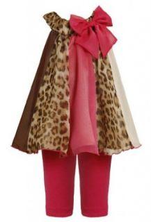 Bonnie Jean Girls Animal Print Paneled Chiffon Dress Pants Clothing Sets Clothing