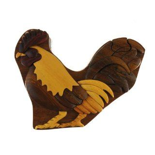Shop Rooster   Wooden Puzzle Box   Handcrafted with Hidden Compartment at the  Home D�cor Store. Find the latest styles with the lowest prices from The Handcrafted