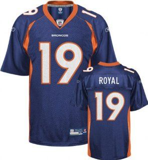 Eddie Royal Denver Broncos NAVY Equipment   Replica NFL YOUTH Jersey (Medium 10/12)  Athletic Jerseys  Sports & Outdoors