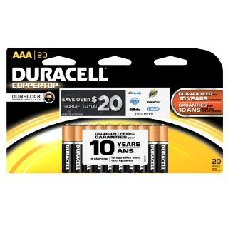 Duracell MN2400B20Z CopperTop Alkaline Manganese Dioxide Battery Mega Pack, AAA Size, 1.5V (Pack of 20) Industrial & Scientific