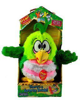 Koo Koo Zoo KooKoo Birds Series 6 Inch Tall Bird Plush Figure  Variant (Pink White Belly) Wide Eyed, Hook Billed Lollapalooza with KooKoo Call and Mystery Egg with Mini KooKoo Bird Inside Toys & Games