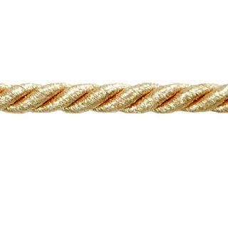 "Noel 1/4"" Twisted Cord Trim Metallic Gold"