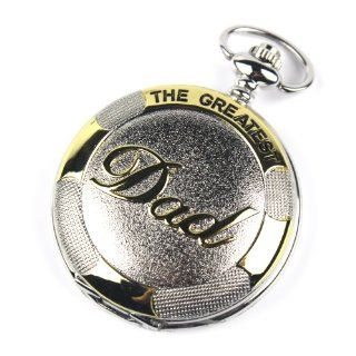 CredDeal Stainless Steel Pocket Watch Golden Dad Dangle Pocket Quartz Watch+chain Pw023 with Gift Box at  Women's Watch store.