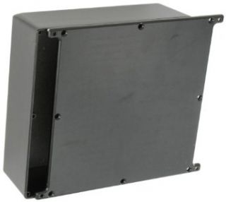 "BUD Industries CU 5478 B Die Cast Aluminum Econobox with Mounting Bracket Cover, 7 1/2"" Length x 7 1/2"" Width x 2 39/64"" Height, Black Powdercoat Finish: Electrical Boxes: Industrial & Scientific"