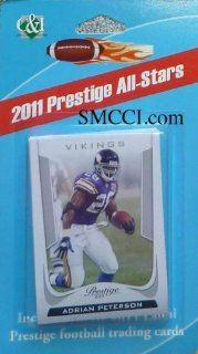 "2011 Panini Prestige Football ""All Stars Pack"" Factory Sealed 12 Card Set. Includes Aaron Rodgers, Tom Brady, Peyton Manning, Drew Brees, Chris Johnson, Clay Matthews, Desean Jackson, Jason Witten, Julius Peppers, Ndamukong Suh and Troy Polamalu."