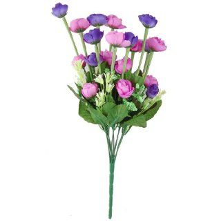 "Plastic Stem 16.5"" High Purple Fuchsia Artificial Flower Wedding Arrangement   Fucsia Flowers"