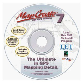 Lowrance MAPCREATE USA 7 Software   Model 95 61 Accessories   GPS: GPS & Navigation