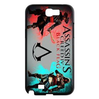 Custom Assassins Creed Black Flag Back Cover Case for Samsung Galaxy Note 2 N7100 N184: Cell Phones & Accessories