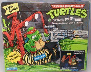 Teenage Mutant Ninja Turtles TMNT Sewer Party Tube 1989 Playmates Toys & Games