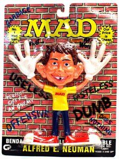 MAD Alfred E. Neuman Bendable Poseable Anythingable (1988): Toys & Games