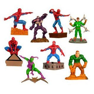 Spider man   Spiderman Buildable Capsule Toys set of 8 vending toys Toys & Games