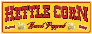 Kettle Corn   concession banner sign 3'x8'  Outdoor Flags  Patio, Lawn & Garden
