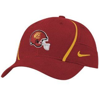 Nike USC Trojans Cardinal Coaches Helmet Logo Dri Fit Adjustable Hat : Football Apparel : Sports & Outdoors