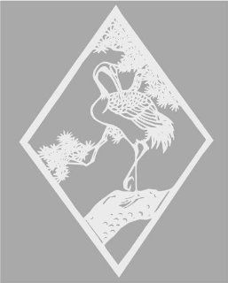 White Etched Stork Bird   Etched Vinyl Stained Glass Film, Static Cling Window Decal   Stained Glass Window Panels