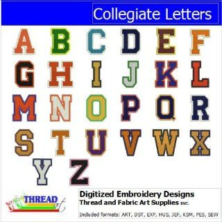 Digitized Embroidery Designs   Collegiate Letters CD