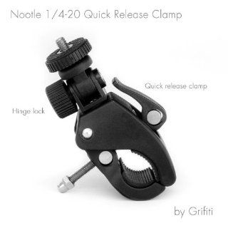 Grifiti Nootle Quick Release Pipe Clamp with 1/4 20 Threaded Head for Cameras and Nootle Ipad Mounts Works for Tripods, Music Stands, Microphone Stands, Any Pipe or Bar That Is up to 1.5 Inches in Diameter Also Motorcycles, Bikes, and More : Tripod Handleb