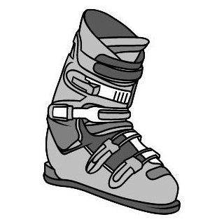 "6"" Printed color snow ski boot gray Hockey Skate Ski Winter Snow Snowboard sticker decal for any smooth surface such as windows bumpers laptops or any smooth surface."