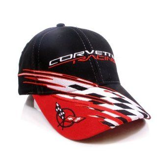 Chevrolet Corvette C5 Logo Racing Checkered Flag Baseball Cap: Automotive