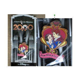 SNOW WHITE & PRINCE CHARMING (#53 in this series) PIN from 'COUNTDOWN TO THE MILLENIUM' Walt Disney collection. In 1999, Walt Disney company produced 100 different character pins from Disney movies & cartoon shorts. Almost all disappeared o