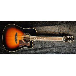 Epiphone DR 500MCE Dreadnought Acoustic Electric Guitar, Vintage Sunburst: Musical Instruments