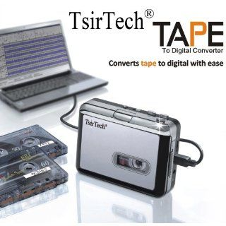TsirTech� Audio USB Portable Cassette Tape to MP3 Player Adapter with USB Cable and Software Cd Also Features Auto Reverse   MAC Compatible: MP3 Players & Accessories