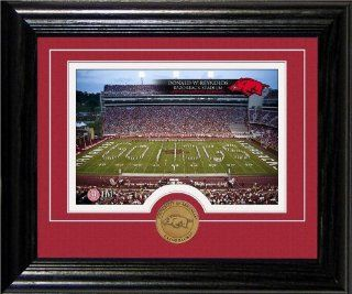 University of Arkansas Reynolds Razorbacks Stadium Desktop  Sports Related Collectible Photomints  Sports & Outdoors