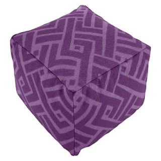 Pouf: Threshold Pouf   Purple Print