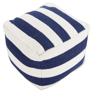 Pouf: Threshold Pouf   Navy Stripe