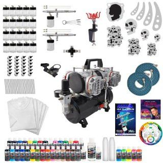 Deluxe T shirt Airbrush and Compressor Kit with Everything You Need to Begin T shirt Airbrushing