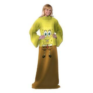Nickelodeon, Spongebob Squarepants, Being Bob Adult Comfy Throw with Sleeves by The Northwest Company  Throw Blankets