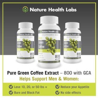 """Pure Green Coffee Bean Extract   One Day Sale    800 GCA   ADD 3 GET 1 FREE   As seen on Dr. Oz TV Show   """"Doubles Your Weight Loss Naturally""""   Highest Potency Available 50% Chlorogenic Acid   800 mg per capsule   NO Side Effects   All Na"""
