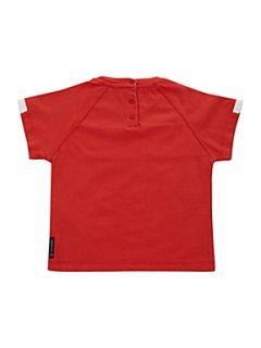 Armani Junior Boy`s Armani eagle logo T shirt Red